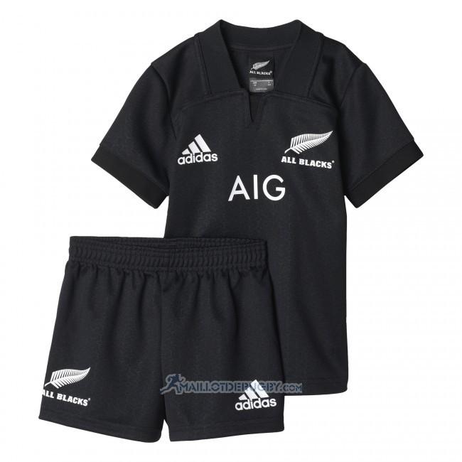 maillot enfant kits nouvelle zelande all blacks rugby 2017 domicile. Black Bedroom Furniture Sets. Home Design Ideas
